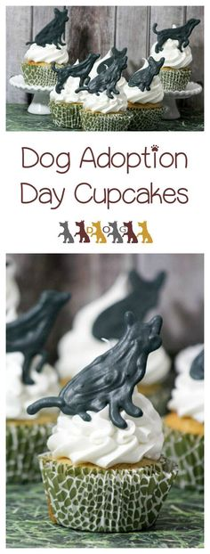 Dog adoption cupcakes are perfect for celebrating a new arrival, commemorating your pup's birthday or for adoption day fundraising events!