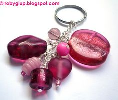 Pink keyring. Perfect as key chain or handbag charm