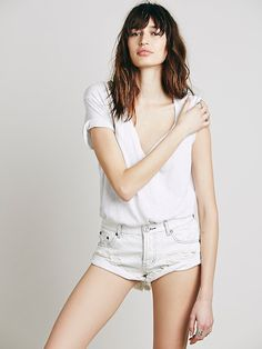 Le Fashion Blog Under 100 One Teaspoon Bandit White Denim Cut Offs White Tee Budget Friendly Affordable Summer Style