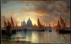 """William Stanley Haseltine, """"Santa Maria Della Salute at Sunset,"""" 1880 (via Arte per poveri on FB)"""