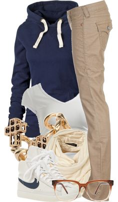 A fashion look from November 2012 featuring blue jersey, keyhole back shirt and low cut pants. Browse and shop related looks. Tomboy Fashion, Look Fashion, Urban Fashion, Teen Fashion, Winter Fashion, Fashion Outfits, Tomboy Style, Fashion Styles, Swag Outfits