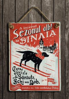 Vintage Ski Posters, Good Ol, Wooden Signs, Wall Art, Retro, Drawings, Snowboard, Memories, Romania