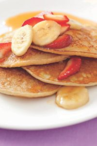 Strawberry-Banana Pancakes - Healthy Recipe Finder | Prevention