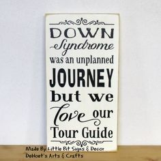 Down Syndrome Was An Unplanned Journey But We Love Our Tour Guide - Wood Sign SKU-753