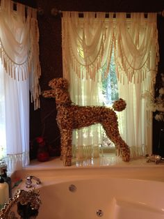 My wine cork topiary poodle!