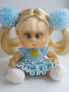 14 вязаных кукол ручной работы