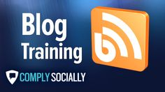 """http://complysocially.com/online-social-media-policy-training/blogging-for-business/ Blogger training course is a self-paced online course now enrolling bloggers online. Learn blogging from the top-rated, longest running social media training provider. This course offers a mix of key concepts, best practices and """"how-to"""" training videos and tutorials to give you the foundational knowledge to choose a platform and start blogging. You can start taking this course right now."""