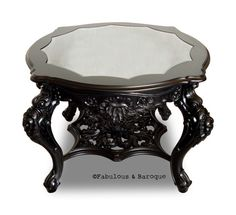 Fabulous and Baroque — Vincent Goth Table from Fabulous and Baroque. Enjoy it with these Coffee Tables. Victorian Furniture, Vintage Furniture, Furniture Decor, Black Furniture, House Furniture, Repurposed Furniture, Luxury Furniture, Gothic House, Victorian Gothic