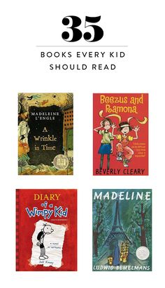 Even in our increasingly digital world, it is still important to introduce your kids to reading. Here's a list of books your children should read!