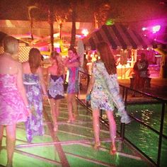 Make an entrance! Walking on water at the Lilly Pulitzer Palm Beach Beach Bash benefiting American Red Cross
