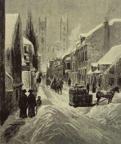 Rue St-Urbain, Montreal, 1882