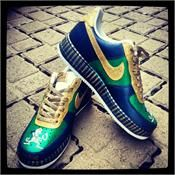 www.hiphopcloset.com - Fighting Irish Custom Painted AF1's Sneakers