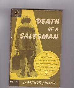 1960s Death of a Salesman by Arthur Miller vintage paperback book, AnemoneReadsVintage