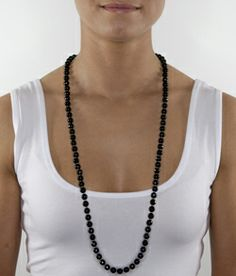 Jet Black (60cm necklace)