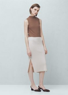 Bicolor dress | MANGO