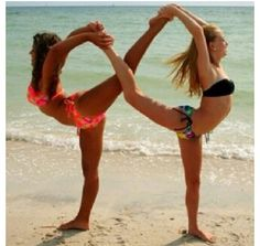 I'm doing this with my cousin the next time I see her. You have to be very flexible!