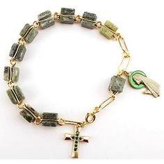 Genuine Connemara Marble Rosary Bracelet | The Catholic Company