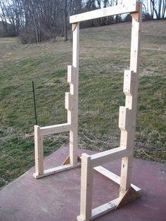 Diy punching bag stand bing images diy pinterest for Diy squat rack metal