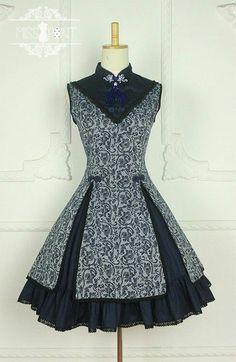 Miss Point ***Ode to Elegance*** Lotus Prints Stand Collar Qi Lolita Jumper Dress Jumper Dress, Dress Up, Pretty Dresses, Beautiful Dresses, Pretty Clothes, Short Dresses, Girls Dresses, Lolita Dress, Mode Outfits