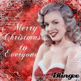 marilyn monroe xmas blingee - ♥merry christmas to everyone by lavanesita♥