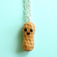 Peanut Necklace, $12, now featured on Fab. I could do this with polymer clay! *ideas pop into head*