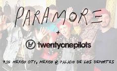 O Paramore confirmou a banda Twenty One Pilots para abrir o seu show na Cidade do México, que será realizado no dia 15 de Julho!