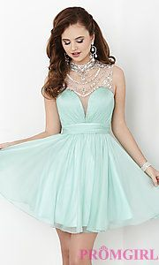 Buy Short Illusion Sweetheart Open Back Hannah S Dress at PromGirl