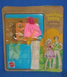 The Sunshine Family Dress-up kit teaches stenciling!!!