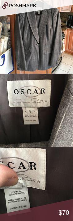 Oscar de la Renta pants suit Pristine condition.  Very vogue on. Oscar de la Renta Jackets & Coats