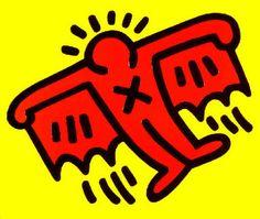 Keith Haring : Bat (X Man) from Icon Suite - Art Brokerage