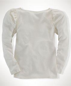 Cute top. Ralph Lauren Kids Shirt, Little Girls Waffle Shirts - Kids Girls 2-6X - Macy's $35.00 #MacysBTS