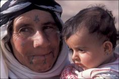 Amazing Pictures of Bedouin Face Tattoos :: Beirut.com :: Beirut City Guide