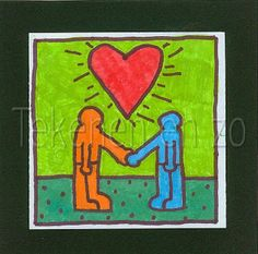 Kinderen doen.....Keith Haring - tekenen enzo