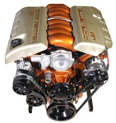LS3 Stage 2 Engine - 480HP - Burnt Orange & Champagne Paints - spsengines.com Ls Engine, Truck Engine, Burnt Orange Paint, Crate Motors, Ls Swap, Crate Engines, Automotive Decor, Chevelle Ss, Expensive Cars