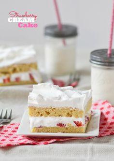 Strawberry Cream Cake from @cookbookqueen