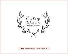 2014 Wreaths Decor Ideas - Pre Made Logo Design 'Vintage Charm'