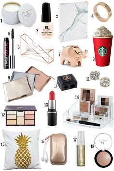 1 / Luggage Tag 2 / L'Oreal® Paris Colorista Spray in Rose Gold available in 10 colors 3 / Donut Dog Tog (comes in set of 4 / Blush Palette 5 / Tangle-Free Hair Band (comes in 4 colors) Christmas Crafts For Kids To Make, Christmas Gifts For Her, Christmas Shopping, Cheap Christmas, Christmas Ideas, Stocking Stuffers For Her, Best Gifts For Her, Gifts Under 10, L'oréal Paris