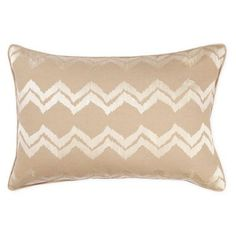 Check out this item at One Kings Lane! Chevron Ikat 14x22 Pillow, Taupe