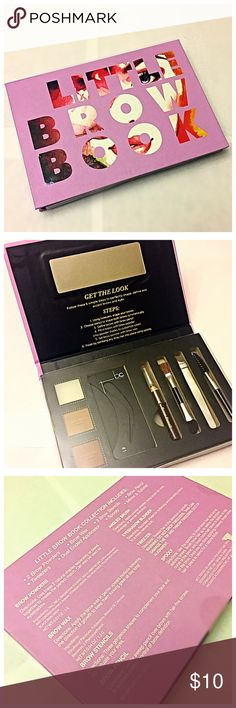 Little Brow Book Kit Little Brow Book Kit by B.C. Concepts. Comes with steps to help get your eyebrows ON FLEEK! Includes: Tweezers, Brush Spoole, Angle Brush, Brow Wax, Brow Filler, Brow Pencil and Stencil. .                           OFFERS WELCOME  NO TRADES ALL CLOTHES CLEANED BEFORE SHIPPING  SHIPPING WITHIN 1-3 DAYS B.C. Cosmetics Makeup Eyebrow Filler