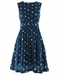 Umbrella print dress.
