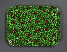 TRAY - Fabric Tampella FABRIC: Christmas print on cotton. Tampella Finland A birchwood tray with a protective melamine coating. Christmas Fabric, Christmas Print, Tom Of Finland, Mid-century Modern, 1970s, Textiles, Trays, Cotton, Fabrics