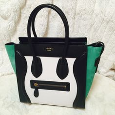 Celine micro tote in trouble color Brand new never carried but does have a tiny flaws please contact me for more info 6462860233 thanks :)  please visit my Facebook page luxury gallery 520 Celine Bags Totes