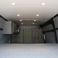 "Townley Sprinter Van 144"" Cargo - Comfort Microwave Wall Cabinet, Wall Storage Cabinets, Base Cabinets, Shelves, Camper Beds, Led Puck Lights, Bus House, Van Design, Van Interior"