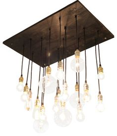 Medium Urban Chandelier, Ebony with Black Cord and Silver Hardware - eclectic - chandeliers - by Urban Chandy