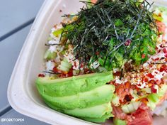 Cubed is the new hot spot at the Union Market located at The District in Tustin and yours truly loves all the fresh build your own poke bowl options.  Taste all the colors of the rainbow and customize to your hearts delight!