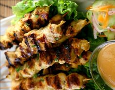 Chicken Satay and Coconut Peanut Sauce