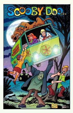 Scooby Doo & Frankenstein (digital colors), in Christopher Ivy's Commission Art Comic Art Gallery Room Cartoon Posters, Cartoon Tv, Vintage Cartoon, Cartoon Shows, Vintage Disney Posters, Movie Posters, Old Cartoons, Classic Cartoons, Retro Wallpaper