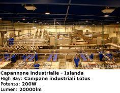 Capannone industriale - Islanda  Pannelli a Led