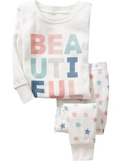 I literally want to buy every pair of jammies at Old Navy for my girl! So dang cute.