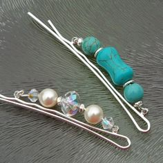 Gratis Bastelanleitung: Haarspangen dekorieren mit Perlen.